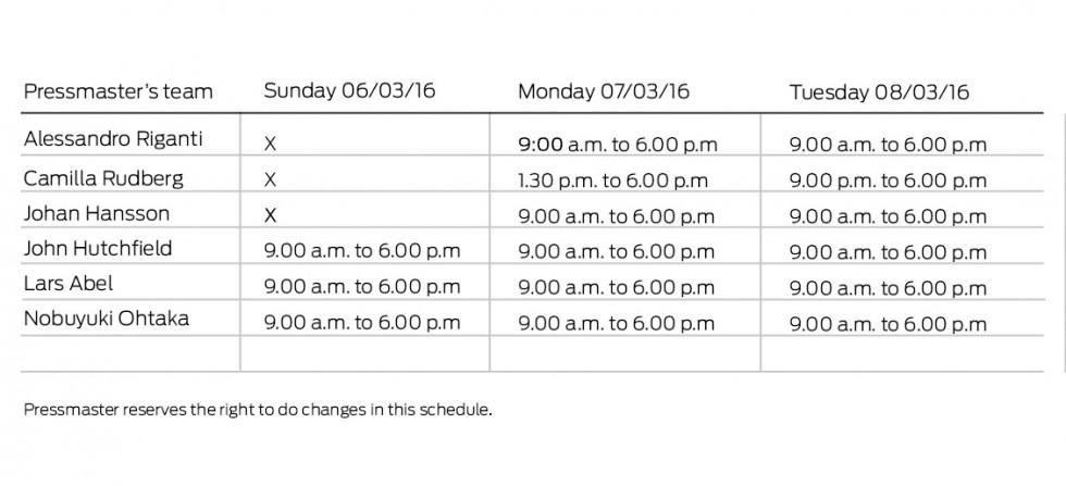 Schedule Köln_20160122